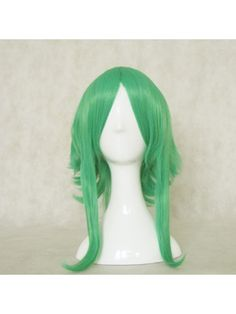 "Our cosplay wigs are made of top quality heat resistant fiber. You can shape these wigs with hair curlers, dryers or get without any worry. Choose the right color and length for you, then you can shape and style the wig any way you want. Be your own stylist!    	Category: ""Apparel & Accessories > Costumes & Accessories > Cosplay Wigs""    	Brand: Mordor    	Anime/ Video Games: Vocaloid Gumi    	Type: MSN Cosplay Wigs, anti curl wigs  	  	Material: High Quality… $21.50"