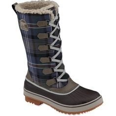 A little plaid to interrupt the winter white. Sorel Tivoli High Winter Boots.   Need these !!!!