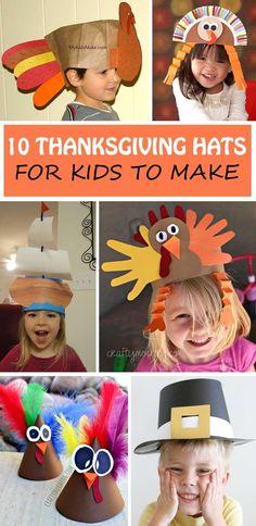 10 Thanksgiving Hats For Kids: Turkey, Pilgrim and Mayflower Ship Ideas