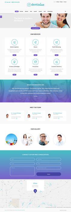 Dentalux - Dentist, Medical & Healthcare Theme #webdesign #website Download: http://themeforest.net/item/dentalux-dentist-medical-healthcare-theme/12323828?ref=ksioks