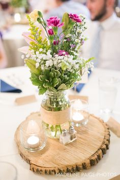 So so pretty!   Floral centerpieces