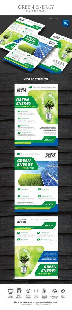 Green Energy Flyer Template PSD