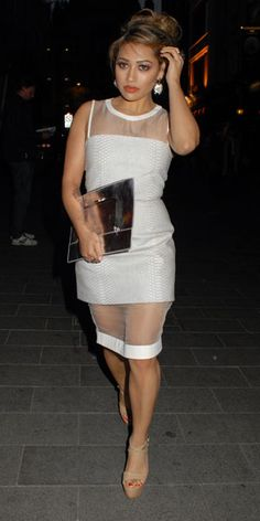 The Saturdays Vanessa White at the Hangover 3 premiere Sheer Clothing, Envy, Bodycon Dress, Classy, Inspire, Trending Outfits, Celebrities, Music, Inspiration