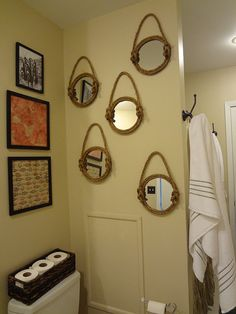Nautical Mirror Wall Decor by ForagedFromNature on Etsy, $25.00