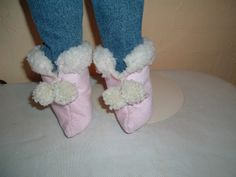 Ag doll boots tutorial and free pattern - faux fur