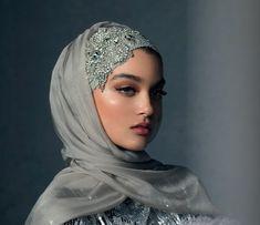 Haute Hijab Luxury Collection in The Celestial Silver, USD 280 Hijabi Wedding, Wedding Hijab Styles, Muslim Brides, Pakistani Wedding Dresses, Muslim Women, Muslim Couples, Chic Wedding, Muslim Fashion, Hijab Fashion
