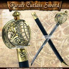 Amazon.com : Mermaid Pirate Cutlass Sword w/ Basket Guard & Sheath : Martial Arts Swords : Sports & Outdoors