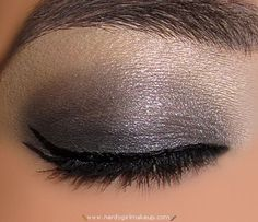 BC Color Au Natural and Downtown Chic can create this look...SparklyGraySmokeyEyeLook3