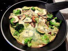 we love veggie: Grüne Frittata - Dinner for one!