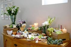 Antipasto Grazing Station from a Boho Chic Baby Shower via Kara's Party Ideas | http://www.karaspartyideas.com/2015/12/oh-baby-boho-chic-baby-shower.html