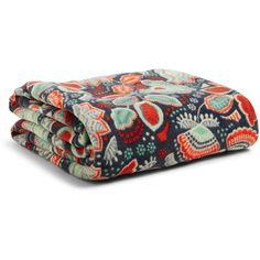 Vera Bradley Throw Blanket in Nomadic Floral ($49) ❤ liked on Polyvore featuring home, bed & bath, bedding, blankets, nomadic floral, vera bradley, vera bradley throw, floral throw blanket, lightweight blanket and vera bradley bedding