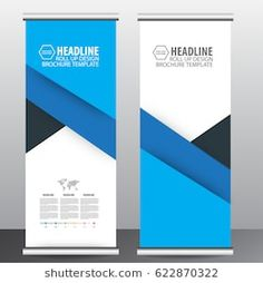 blue roll up business brochure flyer banner design vertical template vector, cover presentation abstract geometric background, modern publication x-banner and flag-banner,carpet design Company Brochure Design, Graphic Design Brochure, Branding Design, School Brochure, Business Brochure, Exhibition Banners, Standing Banner Design, Magazine Ideas, Pop Up Banner