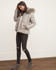 Womens A&F Premium Puffer Jacket   Womens Outerwear & Jackets   Abercrombie.com