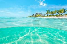 The turquoise waters of Long Bay Beach, Providenciales, Turks and Caicos.