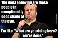 Jim Gaffigan and working out