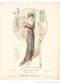 From Élégances féminines. Revue mensuelle de la grande couture parisienne 1912. Dress by Doucet
