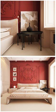Ideas bedroom dresser rustic painted furniture – rustic home interior Bedroom Red, Bedroom Dressers, Trendy Bedroom, Bedroom Colors, Modern Bedroom, Design Bedroom, Girls Bedroom, Rustic Home Interiors, Red Interiors