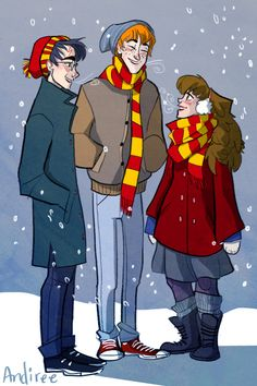 harry potter - harry, ron and hermione - burdge