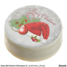 Shop Santa Hat Festive Christmas Oreo Cookies created by BlueRose_Design. Christmas Cake Pops, Merry Christmas Santa, Christmas Treats, Christmas Cookies, Chocolate Covered Oreos, Chocolate Box, Chocolate Cookies, Custom Postage Stamps, Cookie Gifts