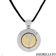 Morellato Necklace Flip Spin Question Mark Pendant Diamond Two Tone Gold | eBay