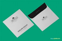 Showcase your awesome branding and stationery designs on this high-resolution and easy to use free envelope mockup PSD in isometric view.