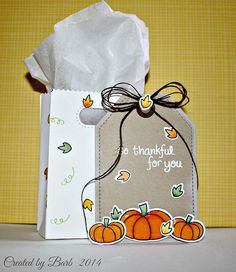 Lawn Fawn - So Thankful + coordinating dies, Goodie Bag Lawn Cuts die _ beautiful Fall-themed gift set by Barb G. via Flickr - Photo Sharing!