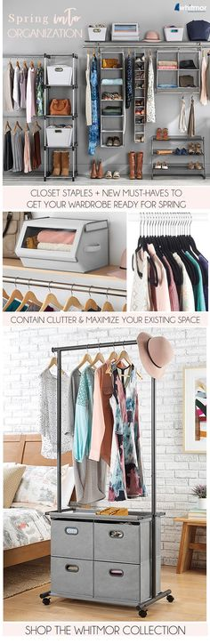 Declutter your closet for Spring. Top organizing products to kick clutter to the curb once and for all.