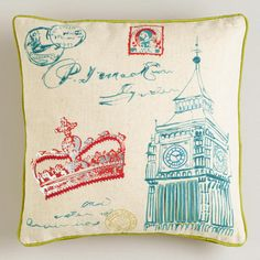 One of my favorite discoveries at WorldMarket.com: Cranberry Crown Throw Pillow