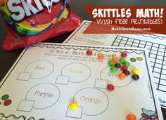 FREE printables to explore important early math concepts with Skittles! Lots of fun ideas!
