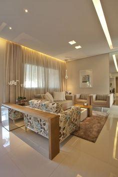 Um apartamento com 107m² foi pensando para uma família comum, casal de filhos adolescentes.