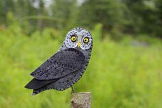 DIY Great Gray Felt Owl (Pattern)