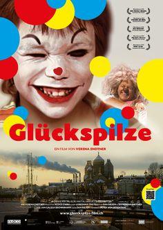 Filmplakat der Glückspilze. Ab 16.1. in Kino. Mehr Infos unter www.glueckspilzefilm.ch oder auf Facebook /glueckspilzefilm
