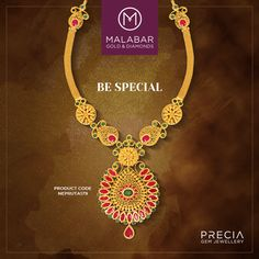Brighten up your day with the elegant design of this necklace set from Malabar Gold and Diamonds Precia collection.