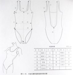 Bodysuit, patterns instructions, lingerie
