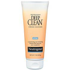 Neutrogena Deep Clean Cream cleanser  I love how this makes my skin feel <3