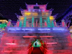 ice houses at chinese lantern festival