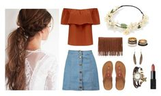 """Boho style  "" by ebonyjhall ❤ liked on Polyvore featuring Forever New, Boohoo, Forever 21, FitFlop, NARS Cosmetics and Wet Seal"