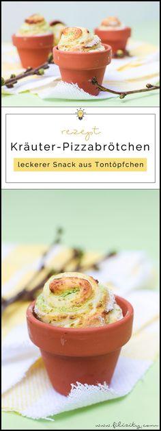 Kräuter-Pizzabrötchen im Tontöpfchen backen   Snack / Fingerfood für Frühling, Oster-Brunch oder Grillfest im Sommer   Filizity.com   Food-Blog aus dem Rheinland #pizza #lechuza #lechuzaworld