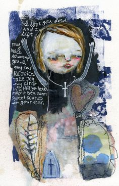 I LOVE YOU LORD - 8x10 mixed media print by Mindy Lacefield