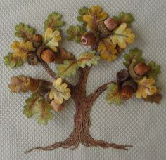 Windflower Embroidery - Oak Tree