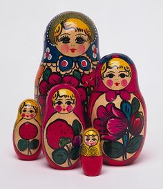 matreshka or matryoshka wooden nesting dolls ~ if difficult to open, thread dental floss into the seam and work it around the perimeter. After the doll is open, rub beeswax candle wax around the rim or seam.