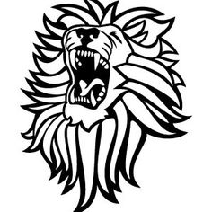 Lion Roaring Vector Image 2
