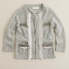 Crewcuts girls cardigan, could totally make this as well.