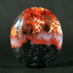 Lava Fountain Plume Agate