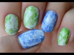 Saran Wrap Nails --- tutorial -from Beauty by Miss L