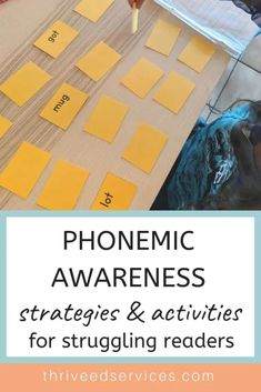 Phonemic Awareness Strategies & Activities for Struggling Readers