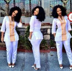 Risultati immagini per ensemble pantalon en pagne africain pour homme Latest African Fashion Dresses, African Dresses For Women, African Print Fashion, African Attire, African Wear, African Style, Moda Afro, Beautiful African Women, Fashion Joggers