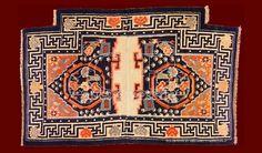 ANTIQUE TIBETAN SADDLE , ANTIQUE CHINESE AND TIBETAN RUGS_141306437660