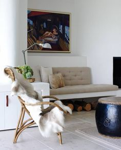 Cozy Living Space.Justine Hugh Jones Design//