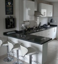 Cocinas Integrales Proyeccsa - Late Tutorial and Ideas Kitchen Room Design, Modern Kitchen Design, Home Decor Kitchen, Interior Design Kitchen, Home Kitchens, Small Kitchens, Kitchen Colors, Life Kitchen, Modern Kitchens